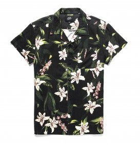 DEAN RESORT SHIRTBLACK FLORAL