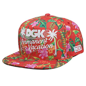 DGK PERMANENT VACATION SNAPBACK RED