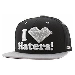 DGK X DIAMOND HATERS SNAPBACK CAP - BLACK/SILVER