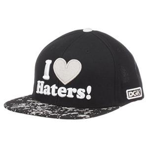 DGK HATERS SNAPBACK CAP - BLACK/BLEACH