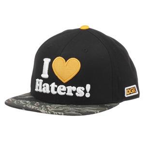 DGK HATERS SNAPBACK CAP - BLACK/TIGER CAMO